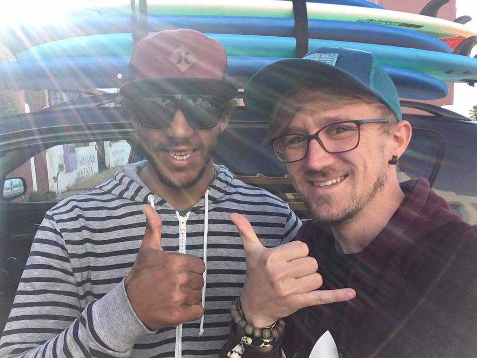 My surf teacher Mohammed and I | Tamraght | Morocco