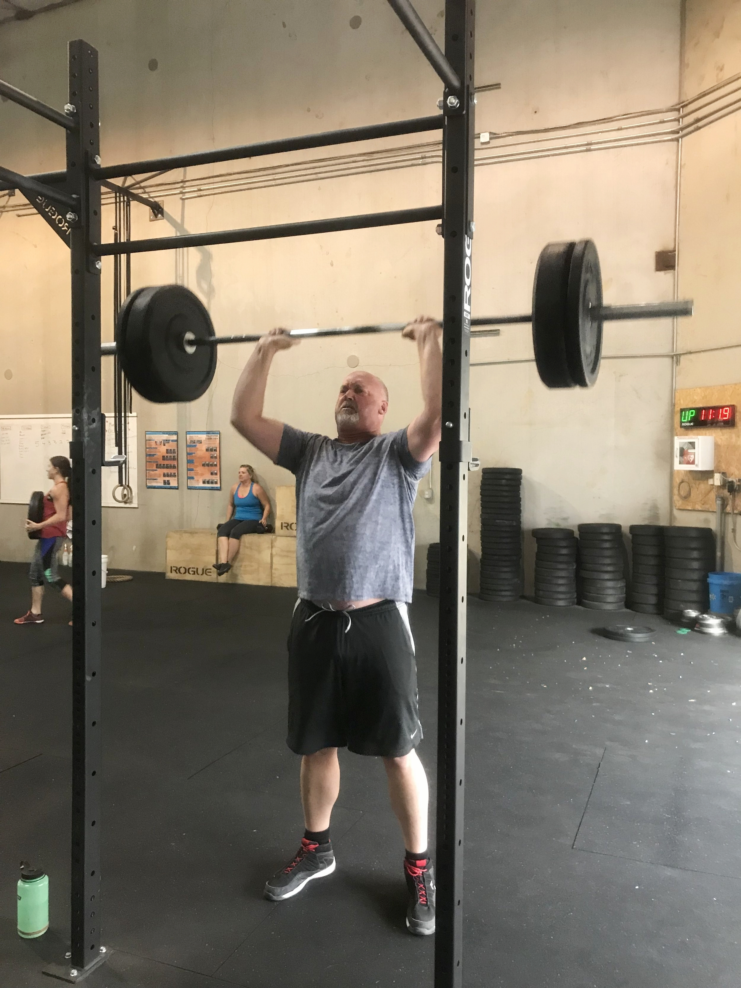 "Rob   ""I wanted to start feeling better about myself and I also knew that being in shape would help deal with the stresses of life. CrossFit has given me more energy and looking at life in a more positive light, not to mention I can fit into my jean's better...""    Read More..."