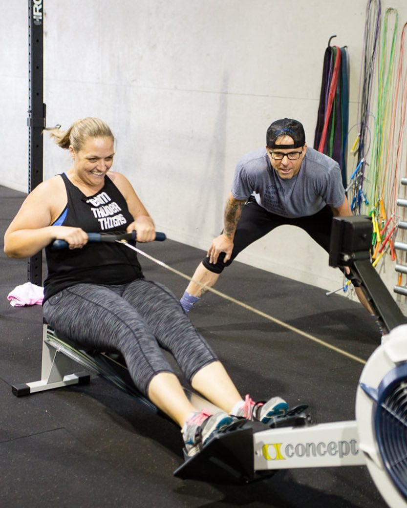 """""""I look forward to every workout. I want to see my friends, who have become more like family, because that's how it is at Ampersand, a family. I want to be with my tribe, pushing myself to see how far I can go."""" - Andrea"""