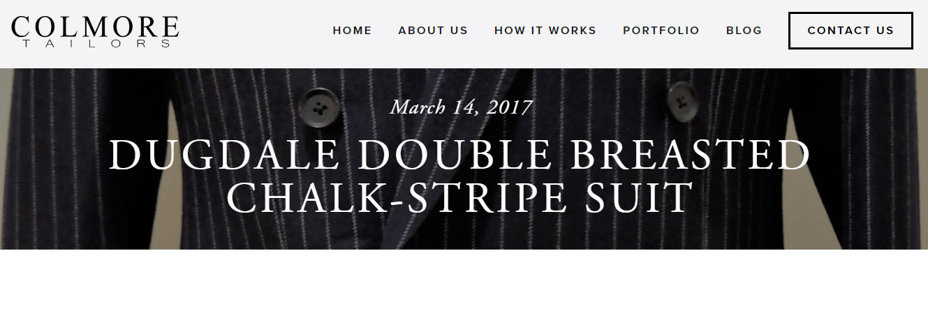 Colmore Tailors | Dugdale Double Breasted Suit