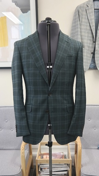 Green Loro Piana Jacket | Colmore Tailors