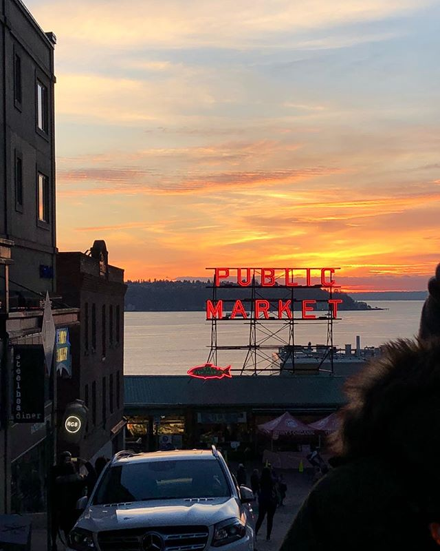 Thanks for the amazing day, Seattle. #pnw #agency #sunset #worklife #creative