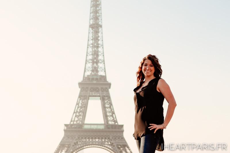 Portrait Eiffel Tower IheartParis