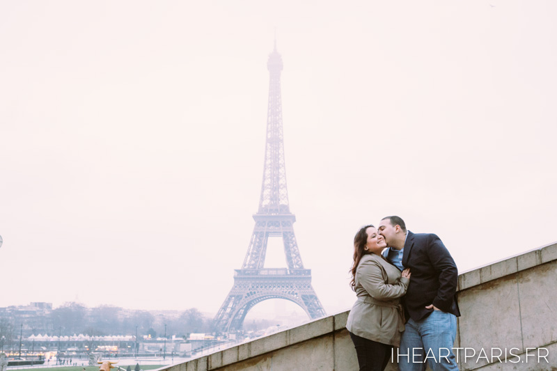 Engagement Paris Session Eiffel Tower IheartParisfr