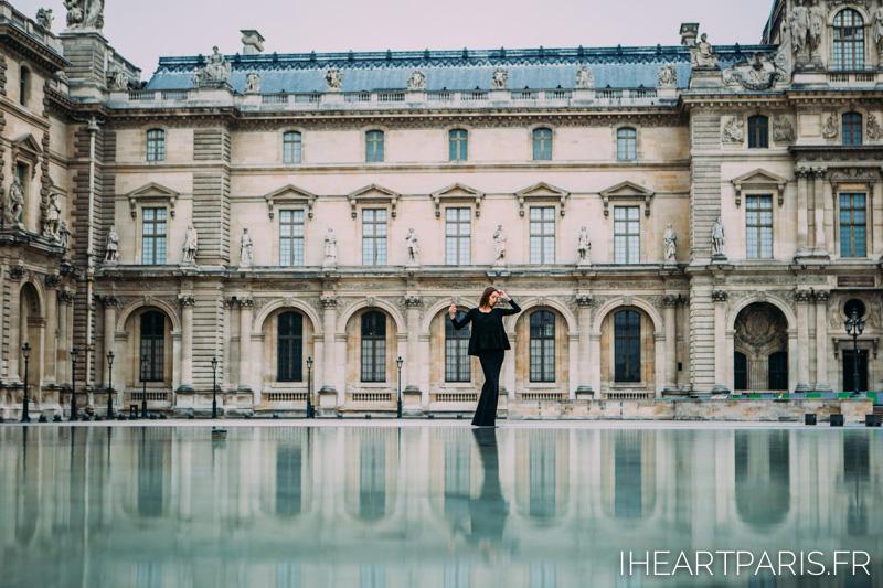 Paris Photographer Fashion Designer Louvre Reflection
