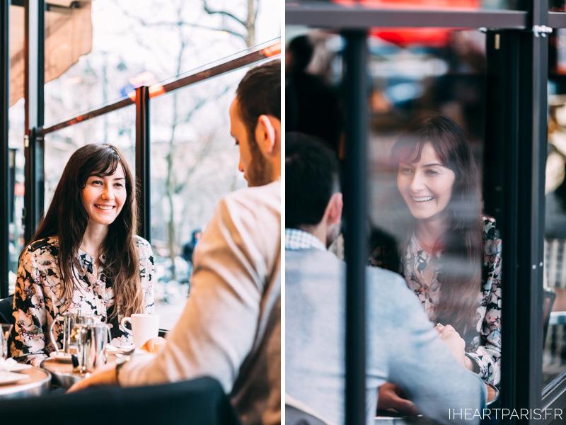 Photographer in Paris Cafe Engagement iheartparisfr