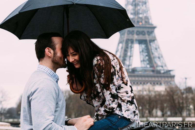 Photographer in Paris Love Rain Eiffel Tower iheartparisfr
