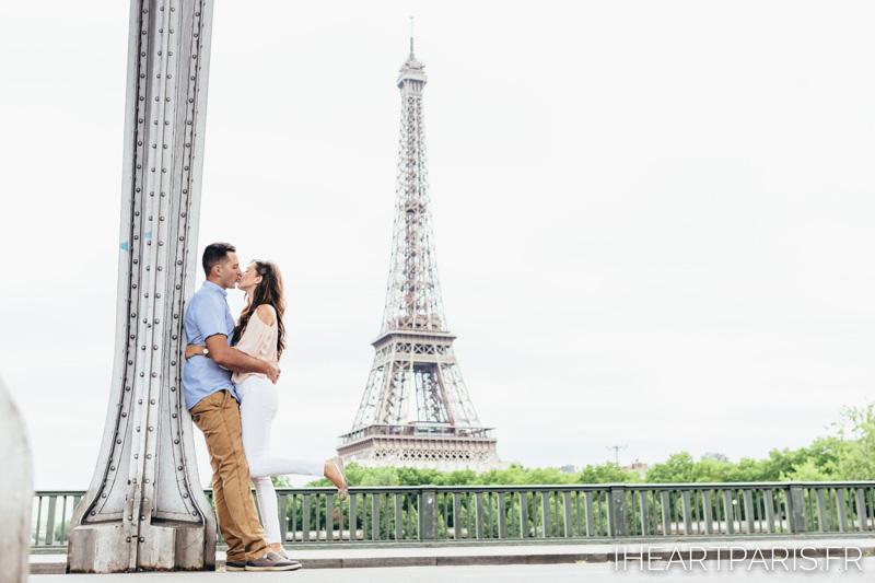 Paris Photographer, Couple Photoshoot, Eiffel Tower, Bir Hakeim, iheartparisfr