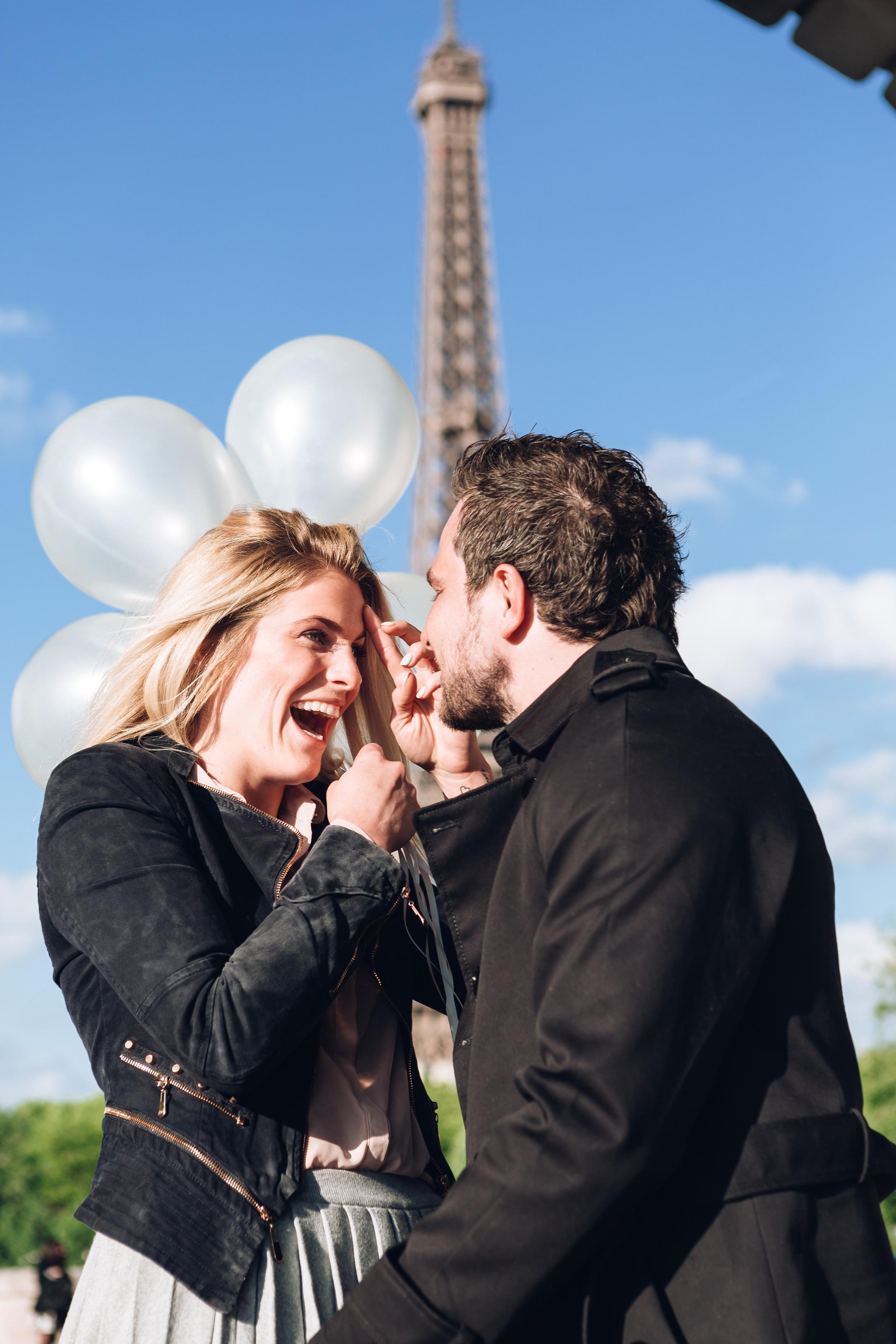 Paris Photographer Surprise Proposal Bir Hakeim engagement Eiffel Tower Iheartparisfr