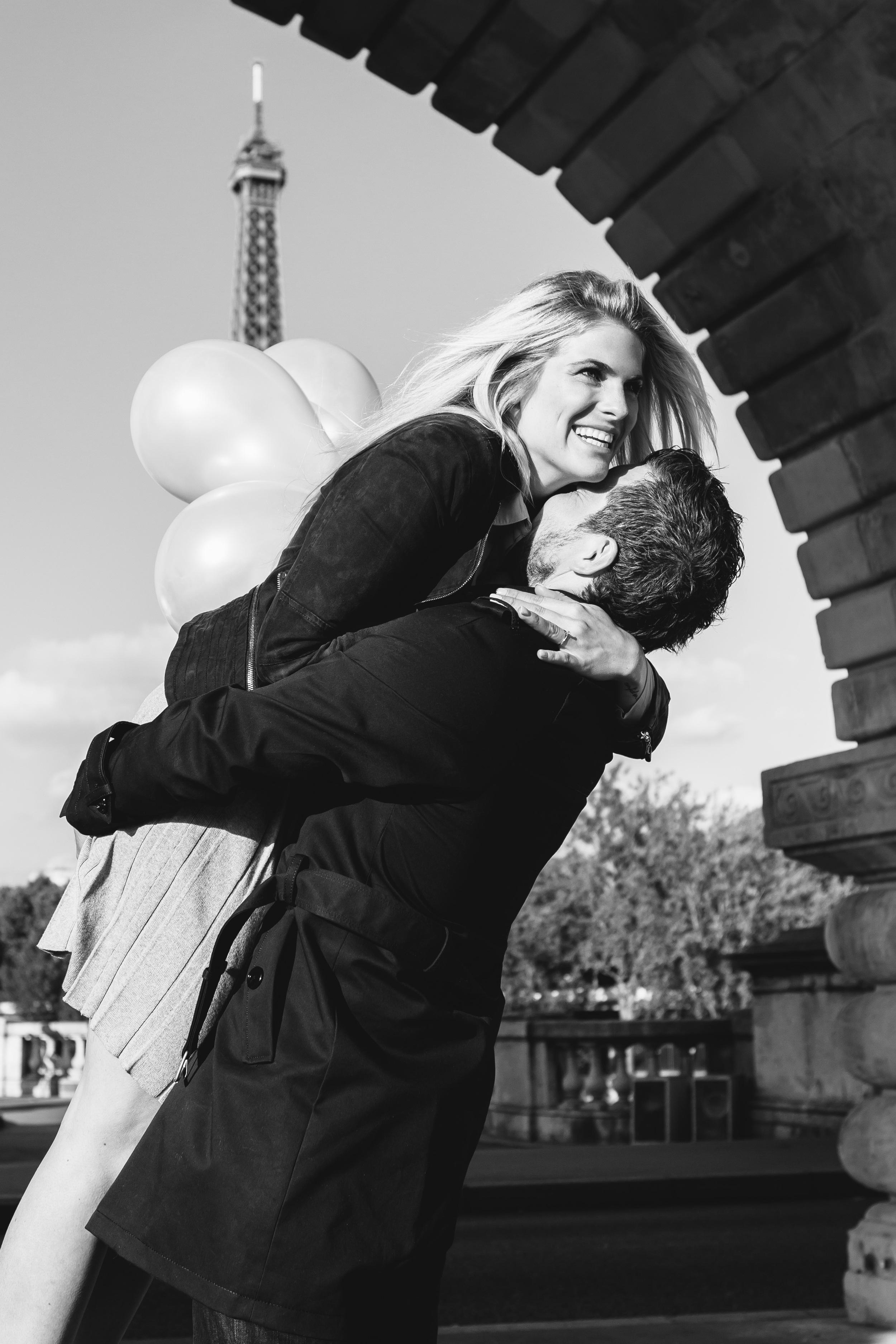 Paris Photographer Surprise Proposal Bir Hakeim Eiffel Tower Engagement Love Iheartparisfr