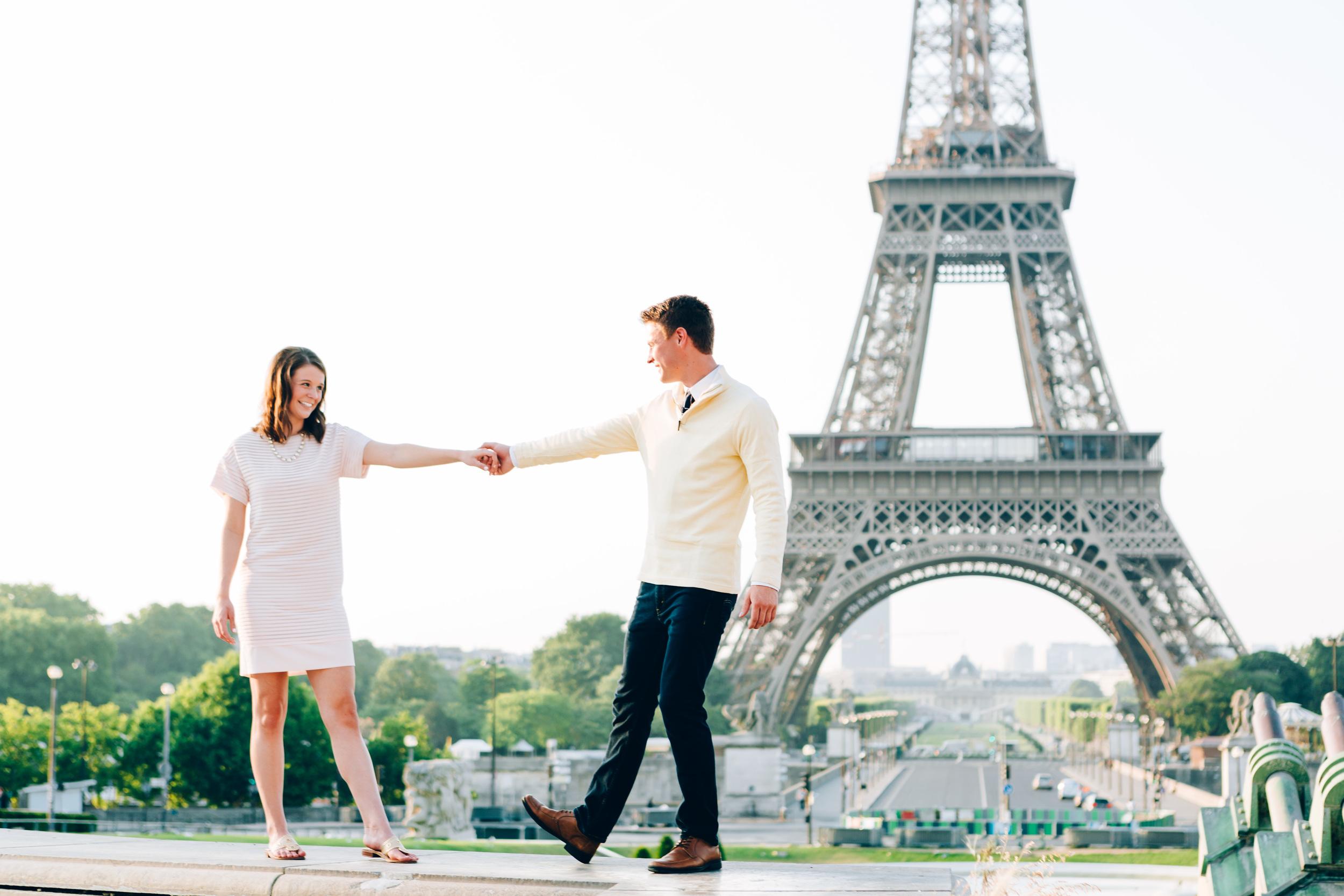 Photographer in Paris, Eiffel Tower, Trocadero, dance, Surprise Proposal, Iheartparisfr
