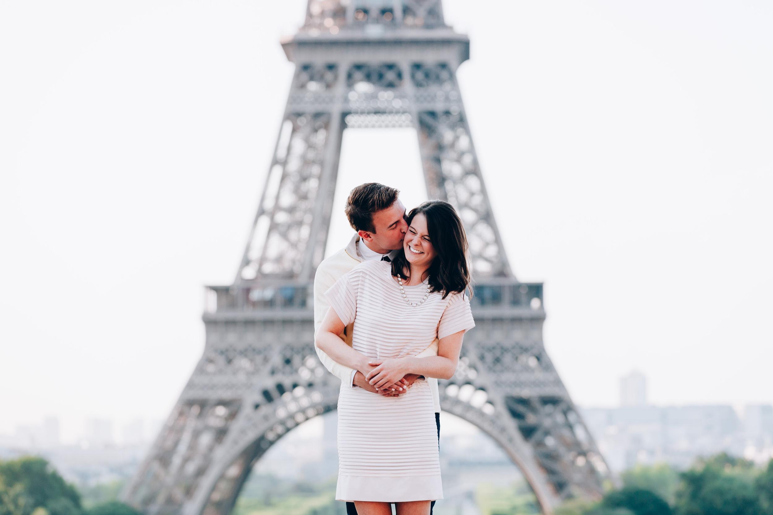 Photographer in Paris, Eiffel Tower, Surprise Proposal, Laugh, Kiss, Iheartparisfr