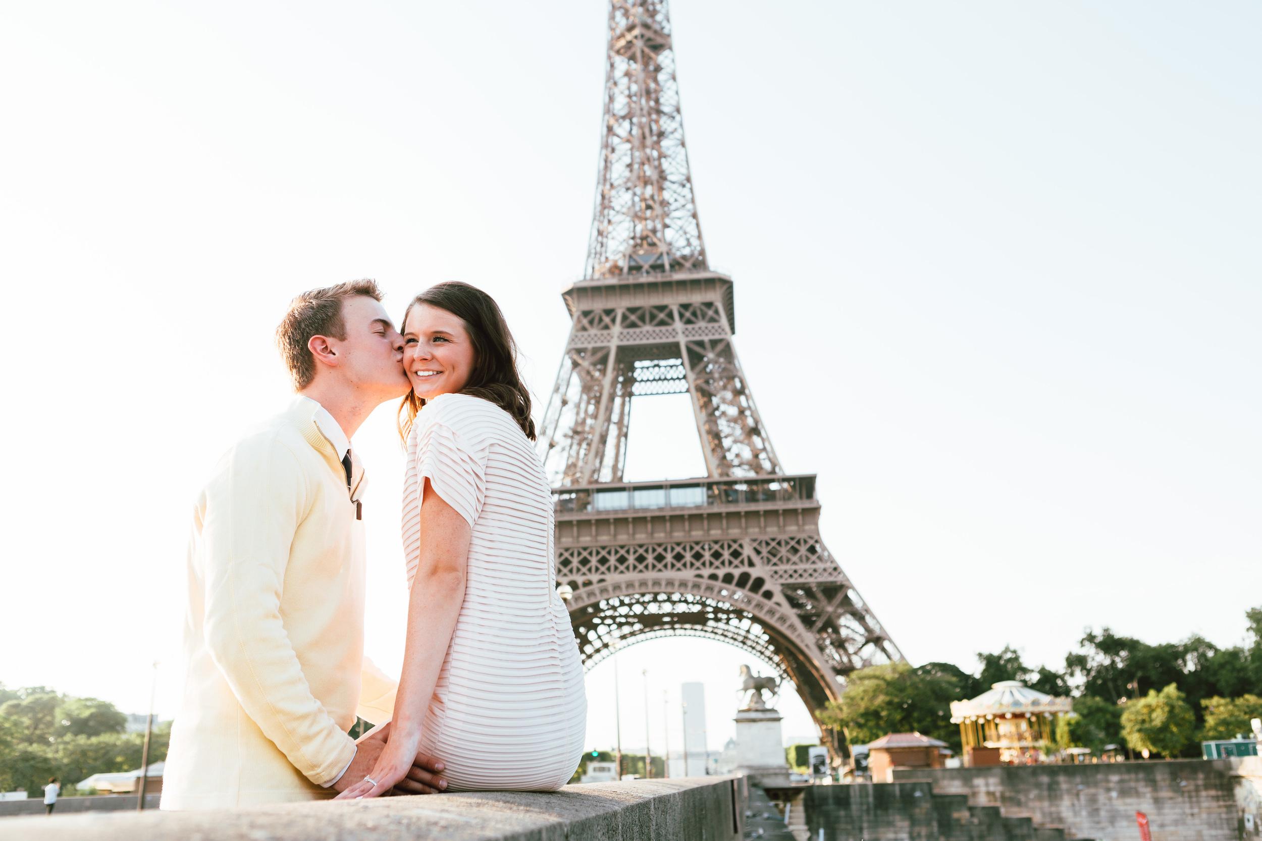 Photographer in Paris, Eiffel Tower, Surprise Proposal, Kiss, Iheartparisfr