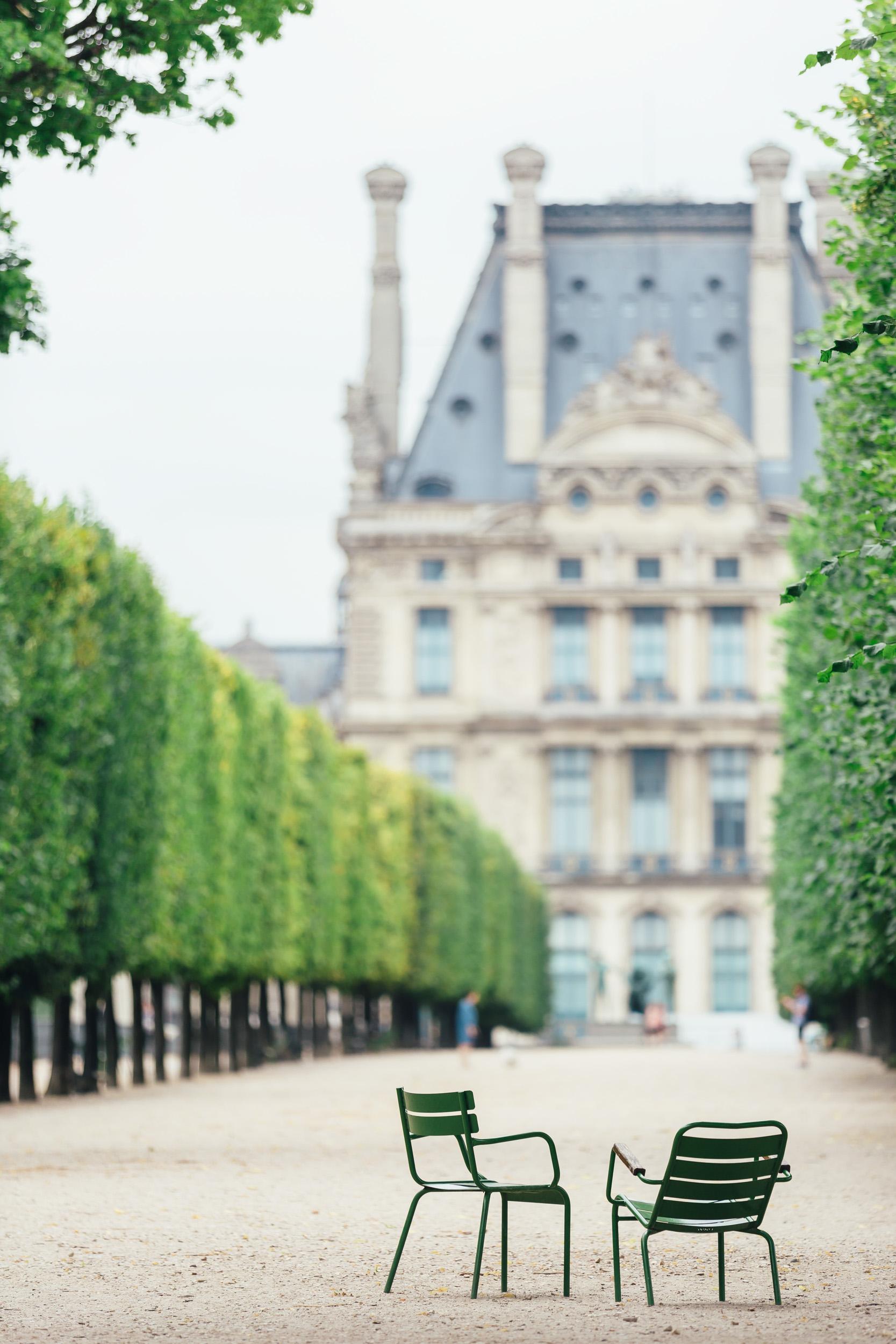 Photographer in Paris tuileries louvre