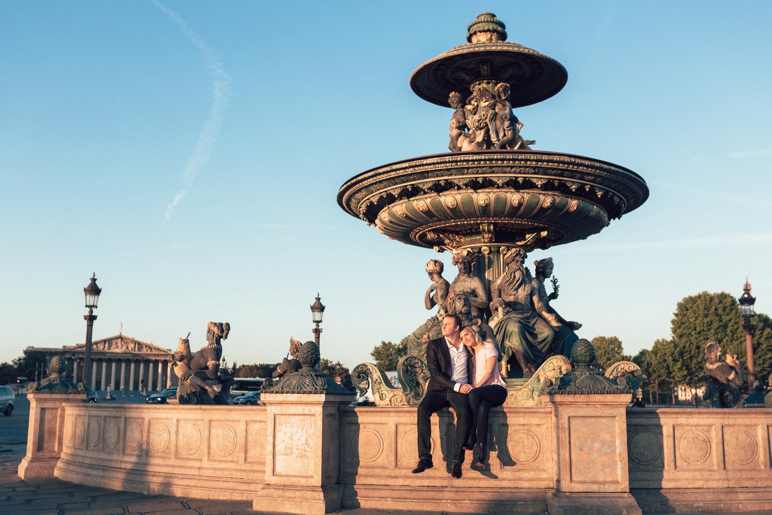 Paris photographer engagement ring concorde
