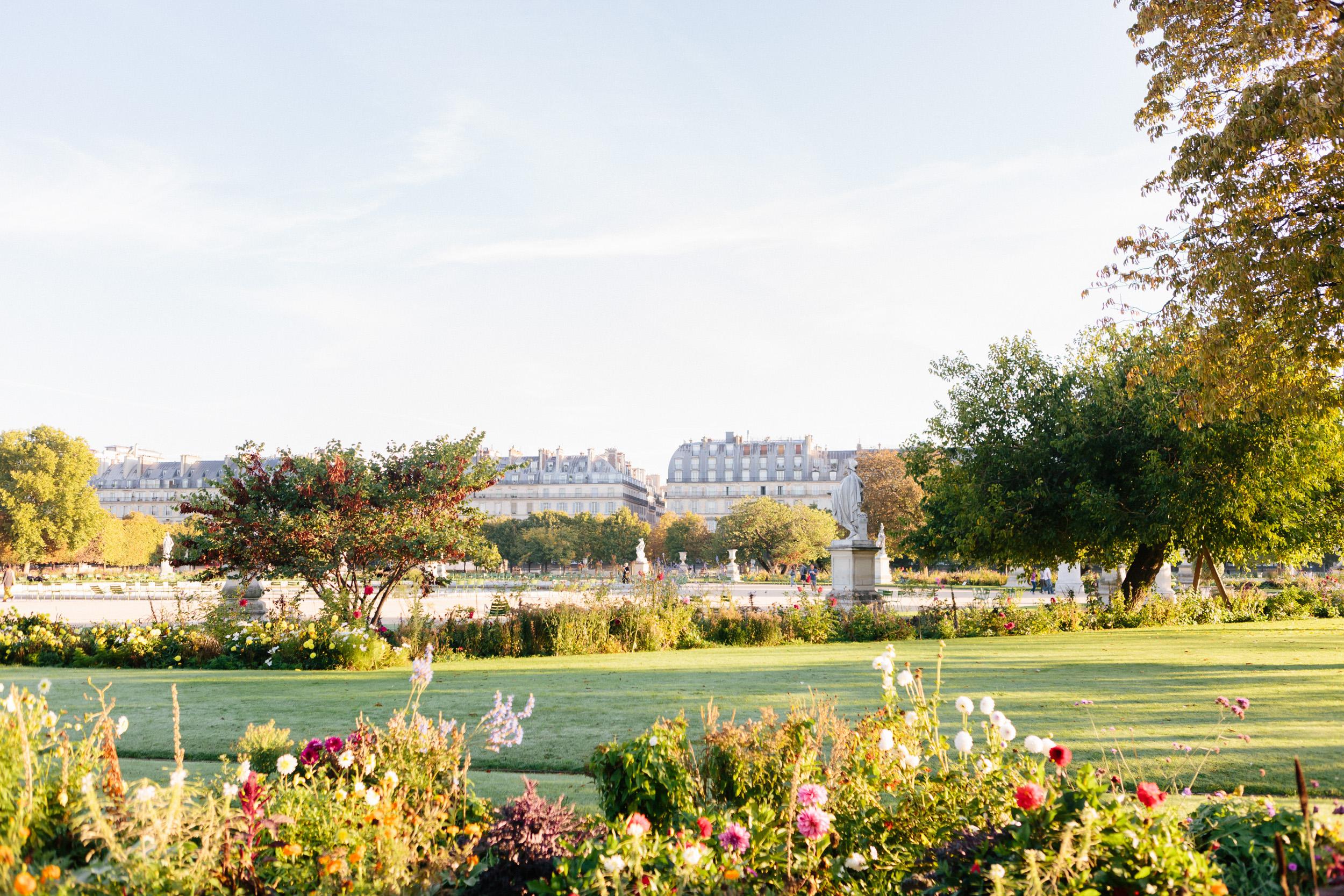 photographer in Paris engagement Louvre Tuileries