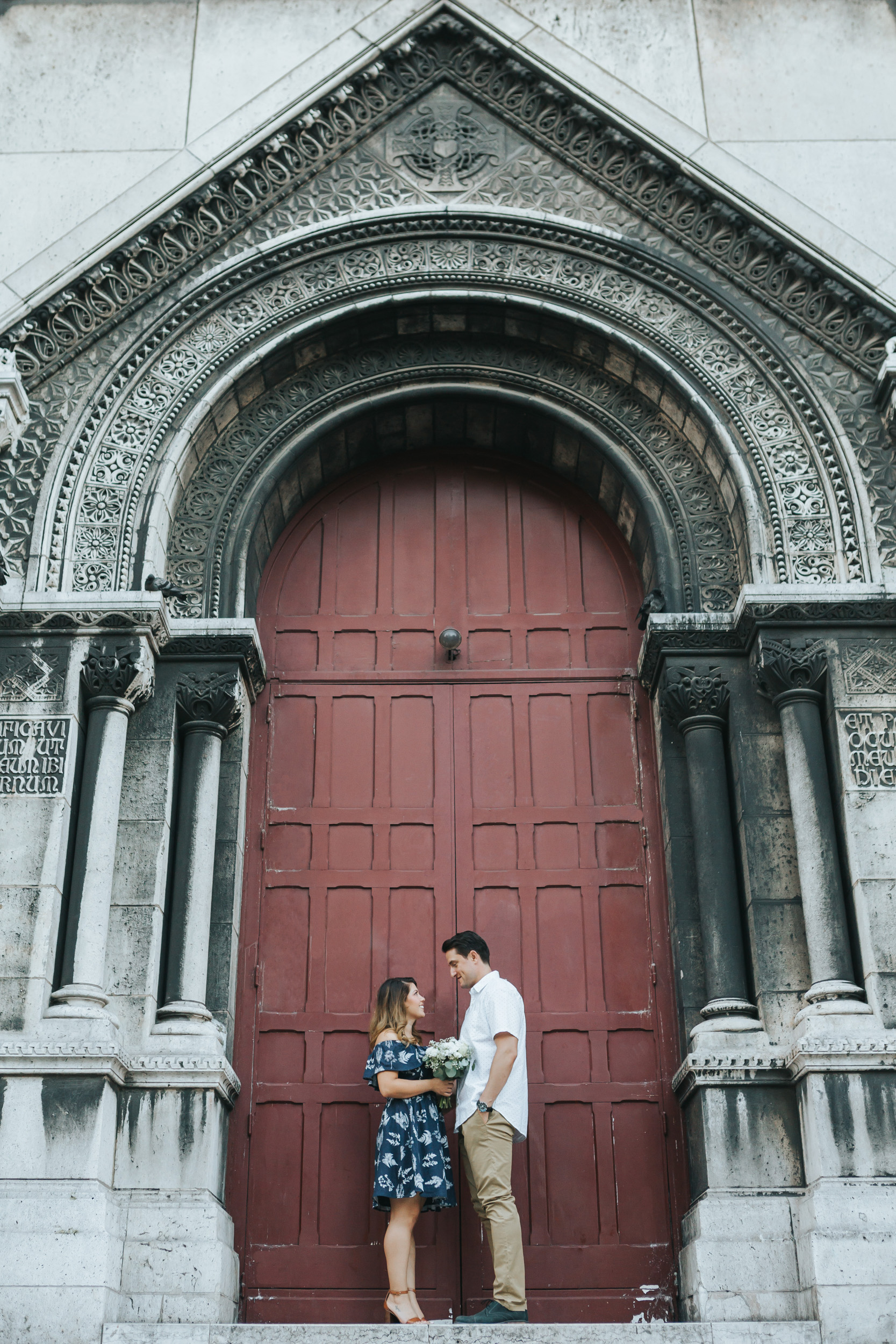 Paris Photographer  Love Story Montmartre Sunrise Flowers Anniversary Couple Session