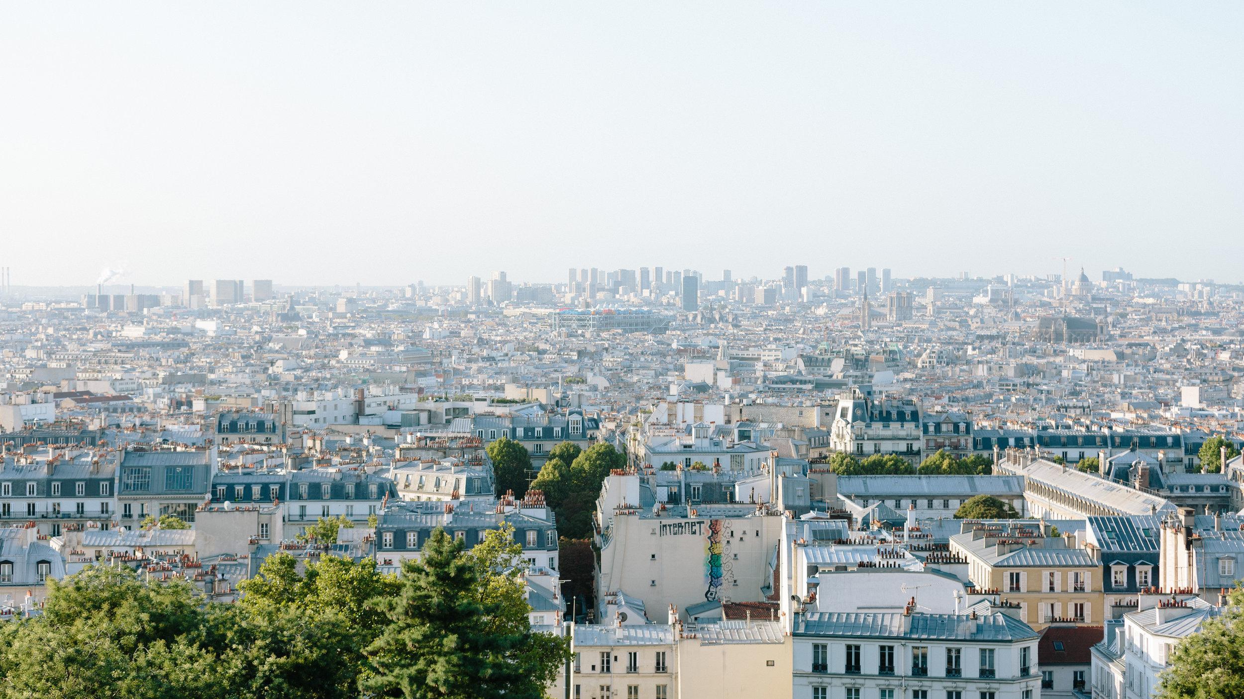 Montmartre view of Parisian rooftops by Paris Photographer Federico Guendel