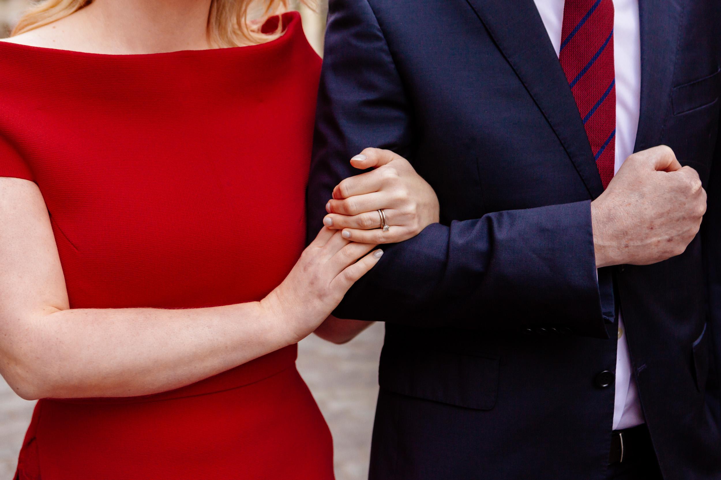 Details photo of a couple holding hands captured by Paris Photographer Federico Guendel www.iheartparis.fr