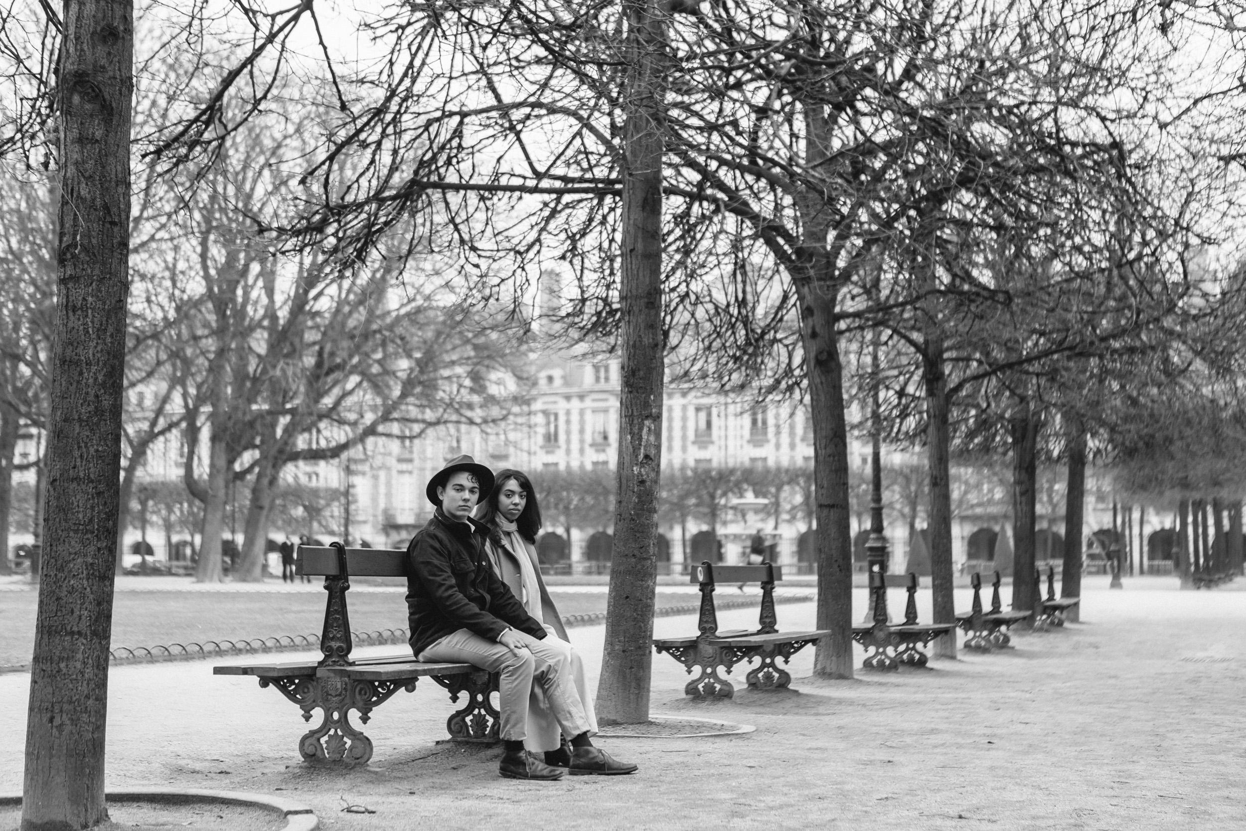 Couple session fine art portrait of The Mango Market photo duo captured by Paris Photographer Federico Guendel IheartParis www.iheartparis.fr