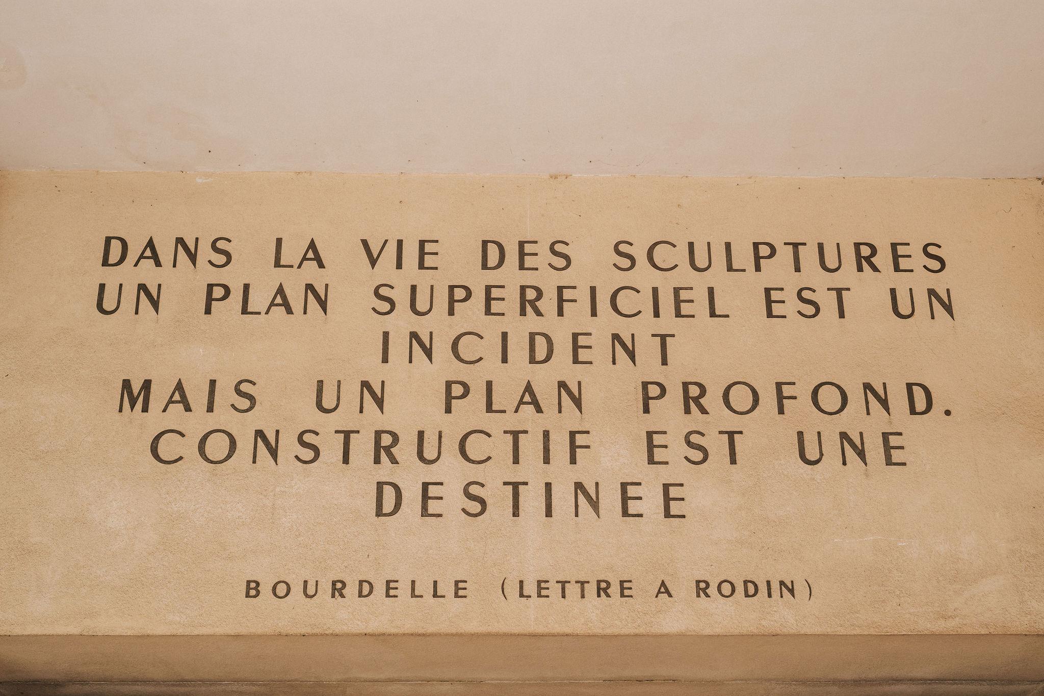 Letter to Rodin by Bourdelle iheartparisfr.jpg
