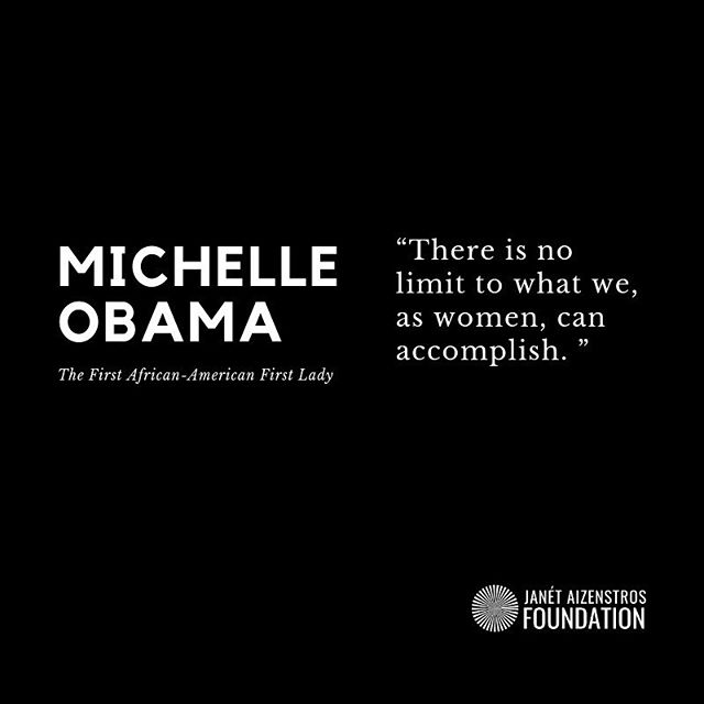 """The is no limit to what we, as women can accomplish."" — @michelleobama"