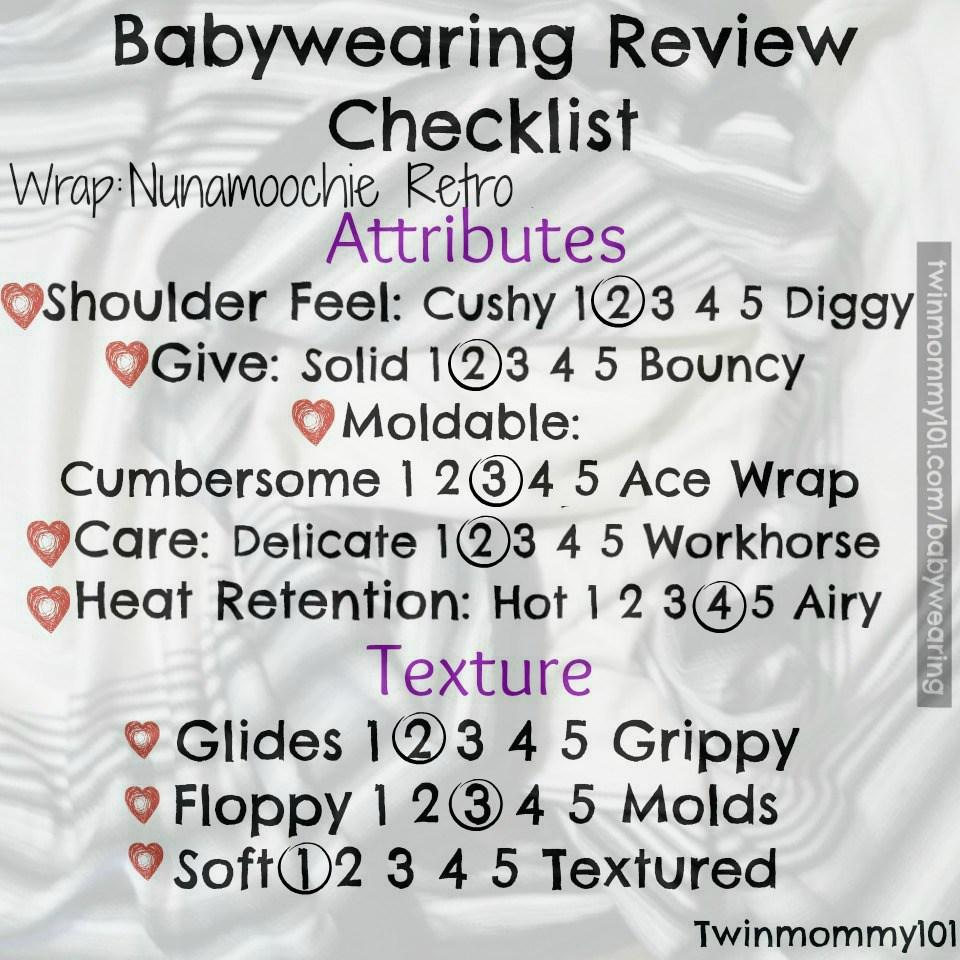 review checklist retro