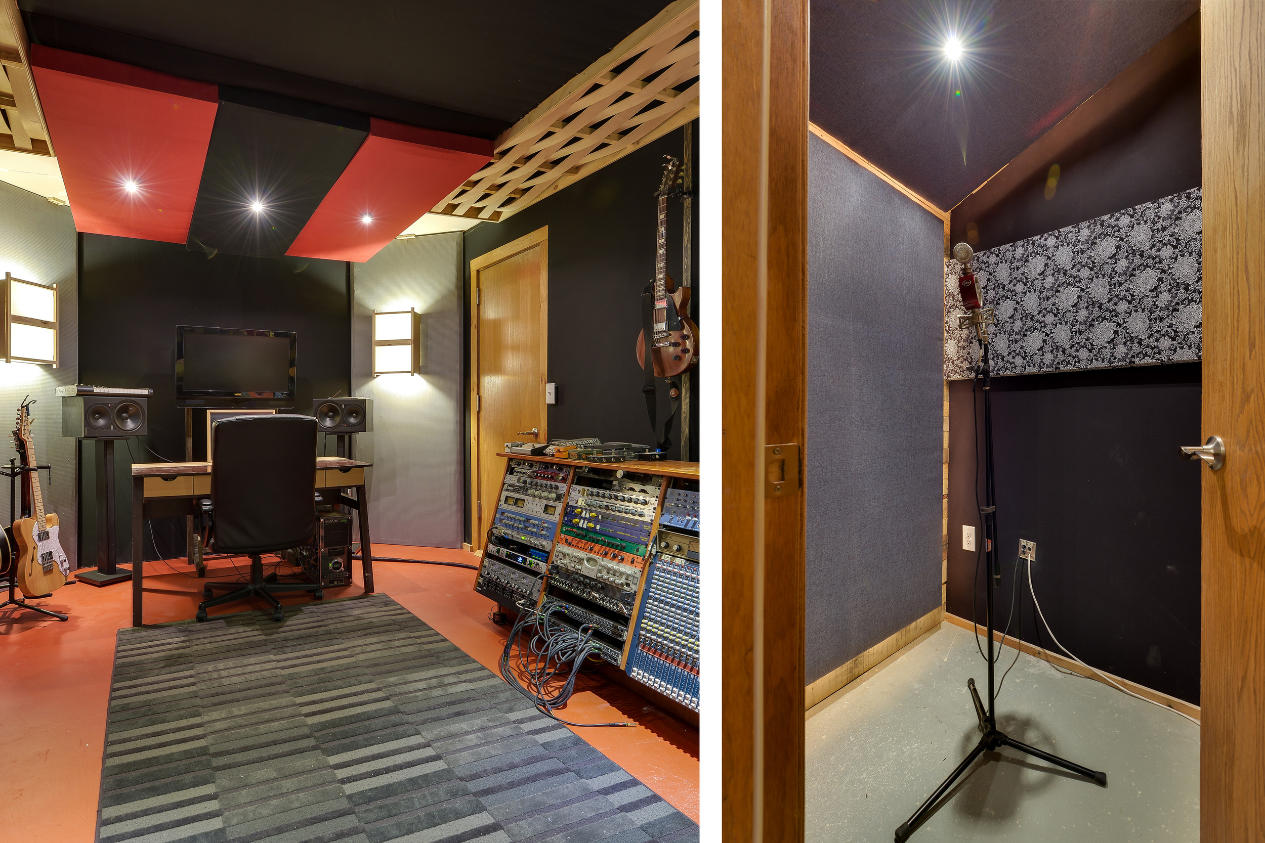 Control room and vocal booth