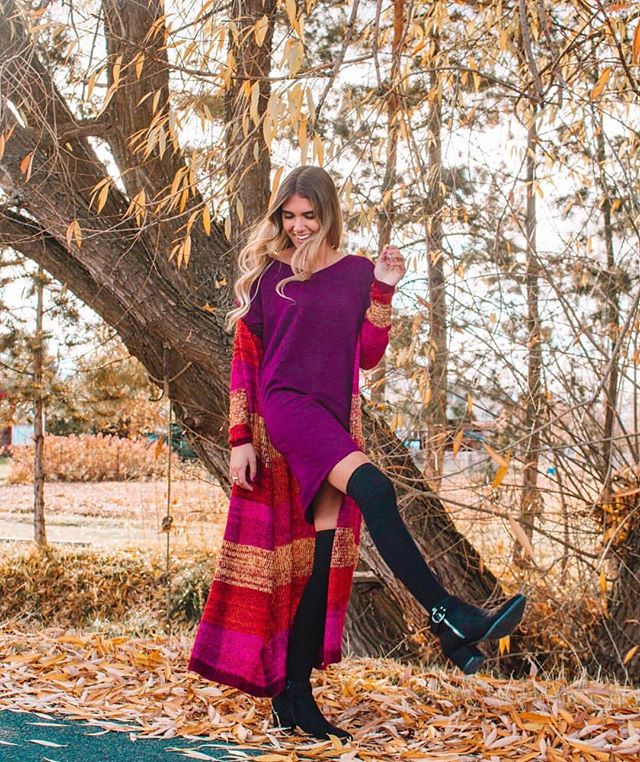 BRB, just wishing we could wear these fall colors as well as @kaliannakali 💕 #othersfollow