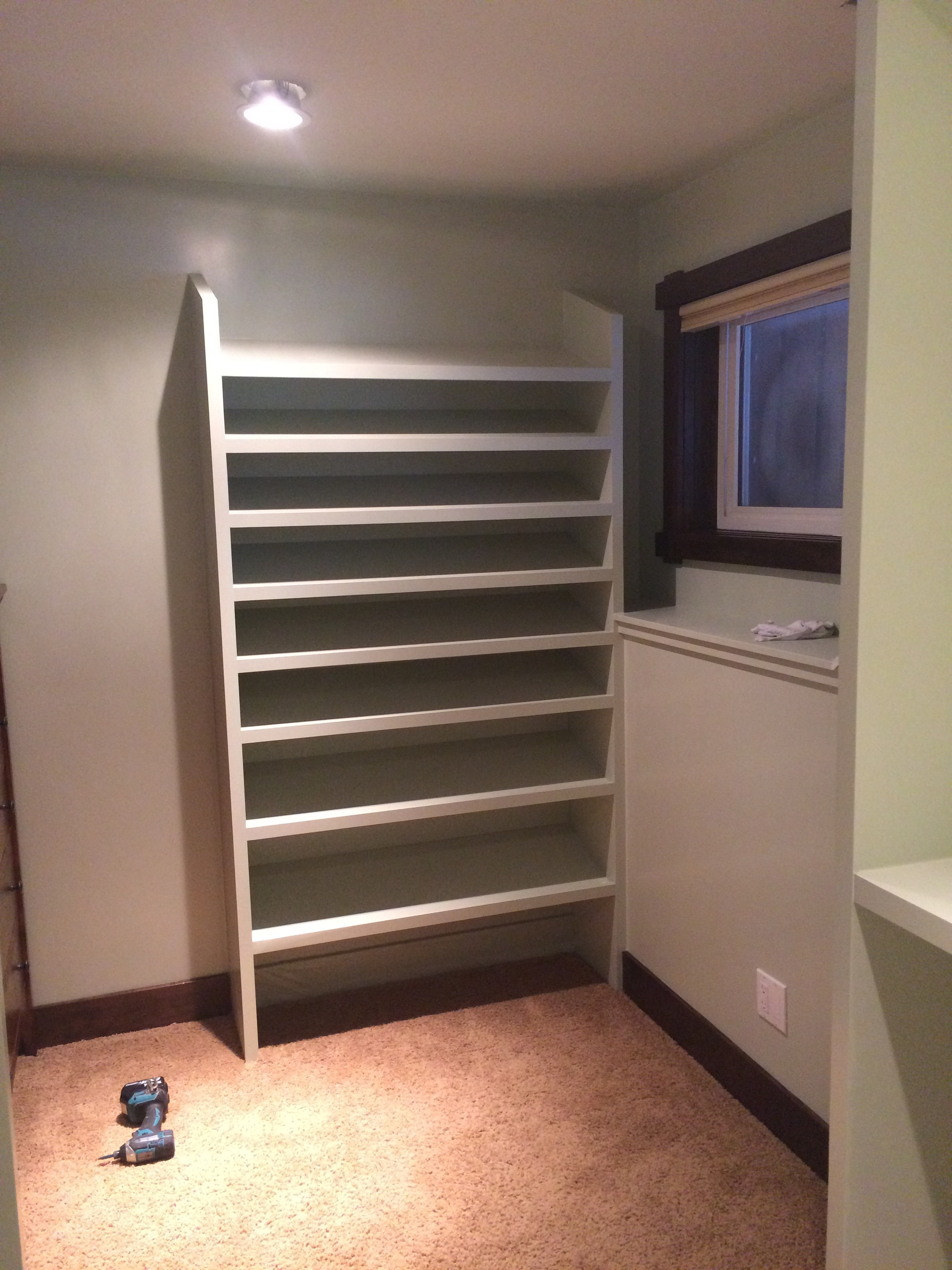 Built In Custom Shoe Rack - November 2016
