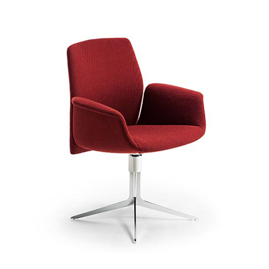 Haworth Collection Downtown Side Chair by Poltrona Frau - 4 Star Base