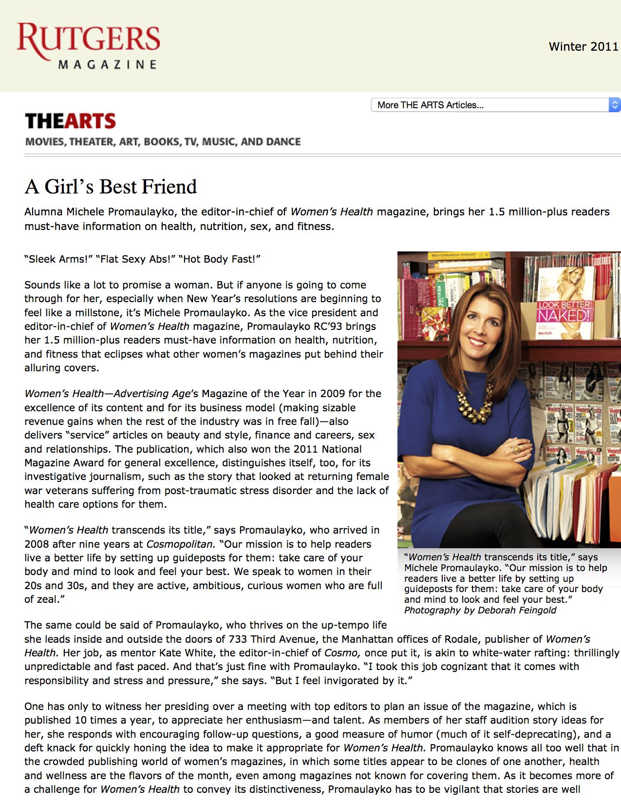 Rutgers Magazine - A Girl's Best Friend1.jpg