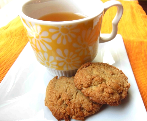 Brighten up the day with these lemon ginger cookies