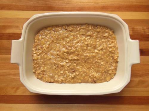 Let mixture soak 15 minutes before baking.