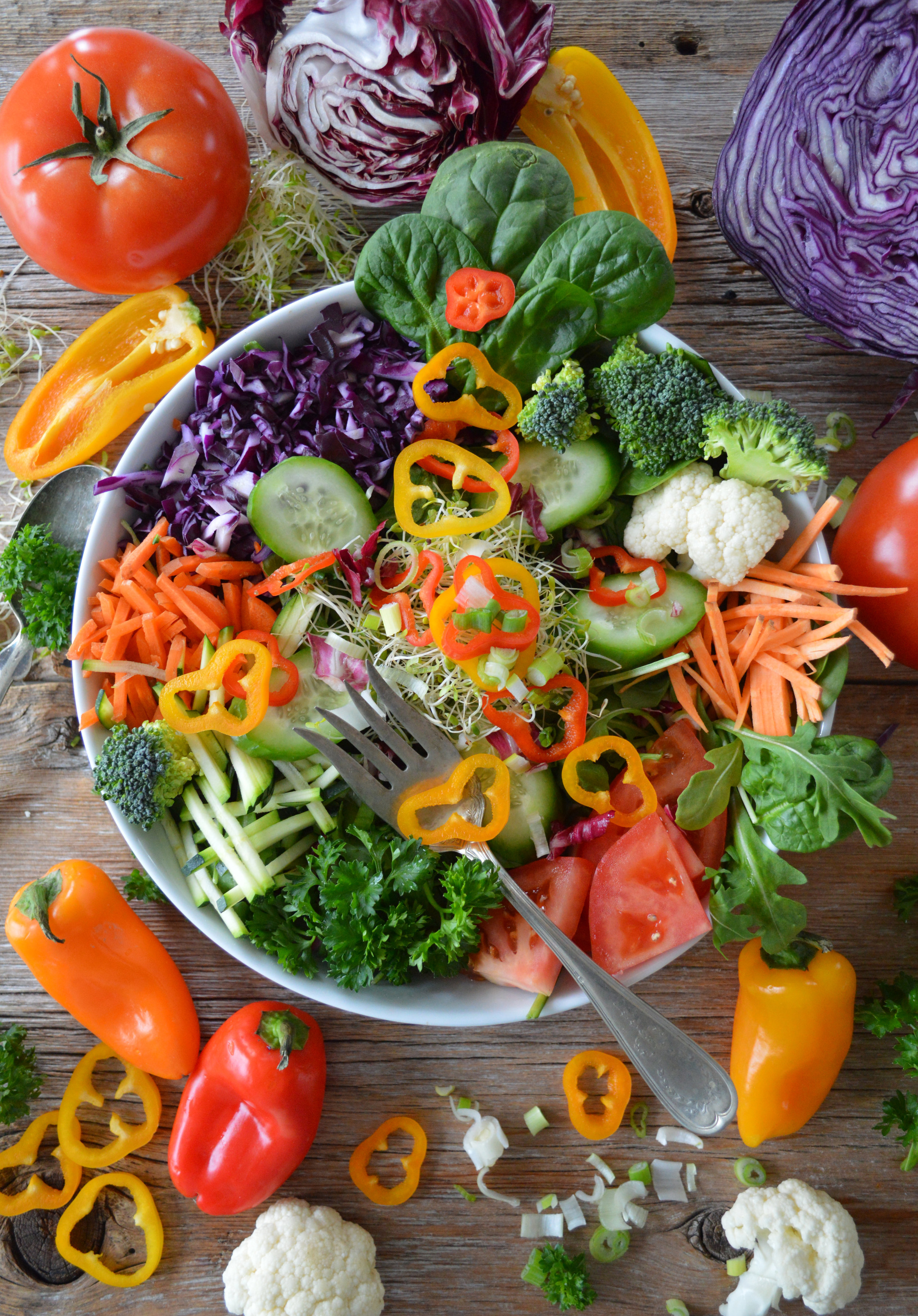 Low-FODMAP Veggies - The brighter the color, the better!