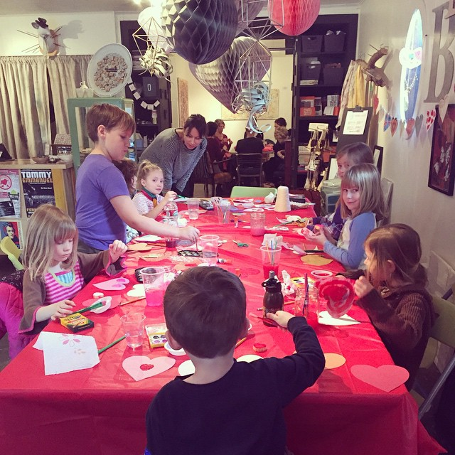 Hopscotch craftalong with Anna Ura (kids in one room, adults in the other!)