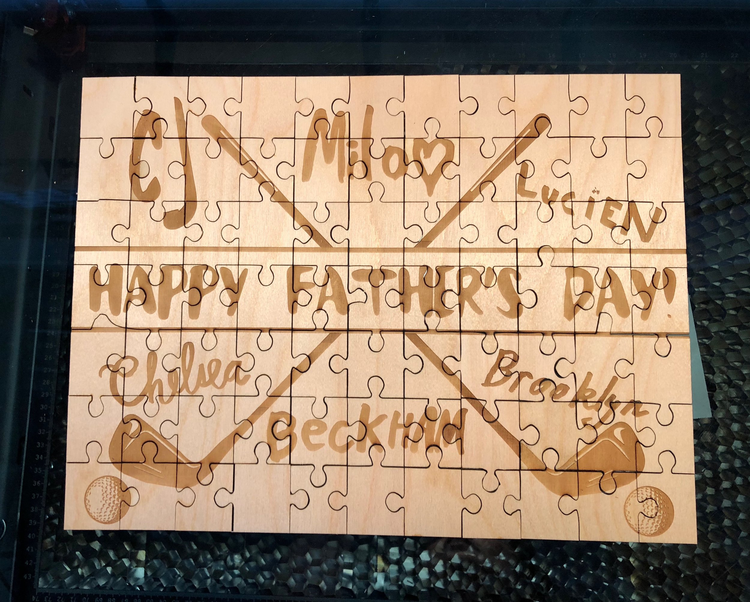 Happy Father's Day Lasercut Puzzle Custom Snowmade