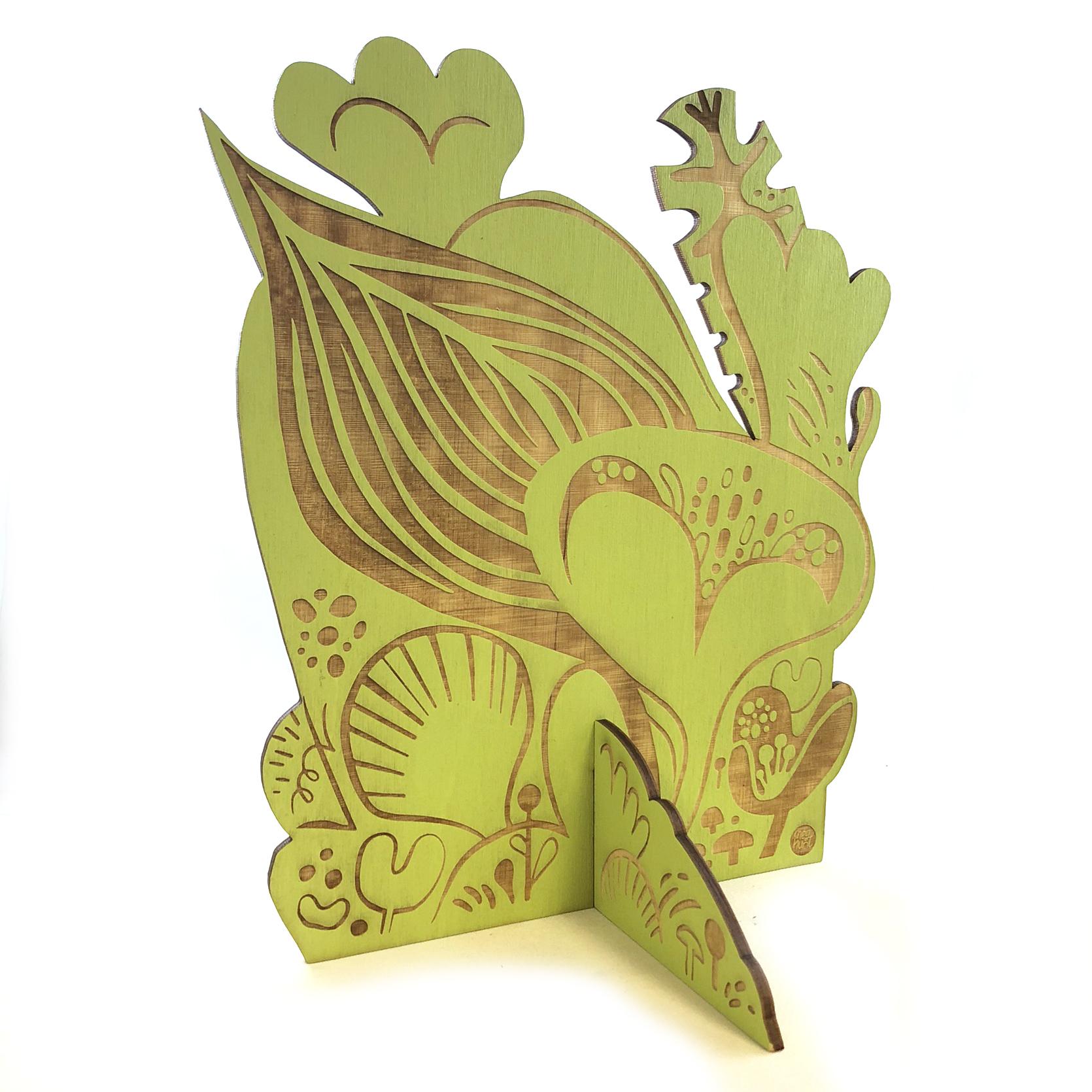 """""""Mod Garden"""" designed by  Meg Hunt   Light green, whimsy, it's own little world"""