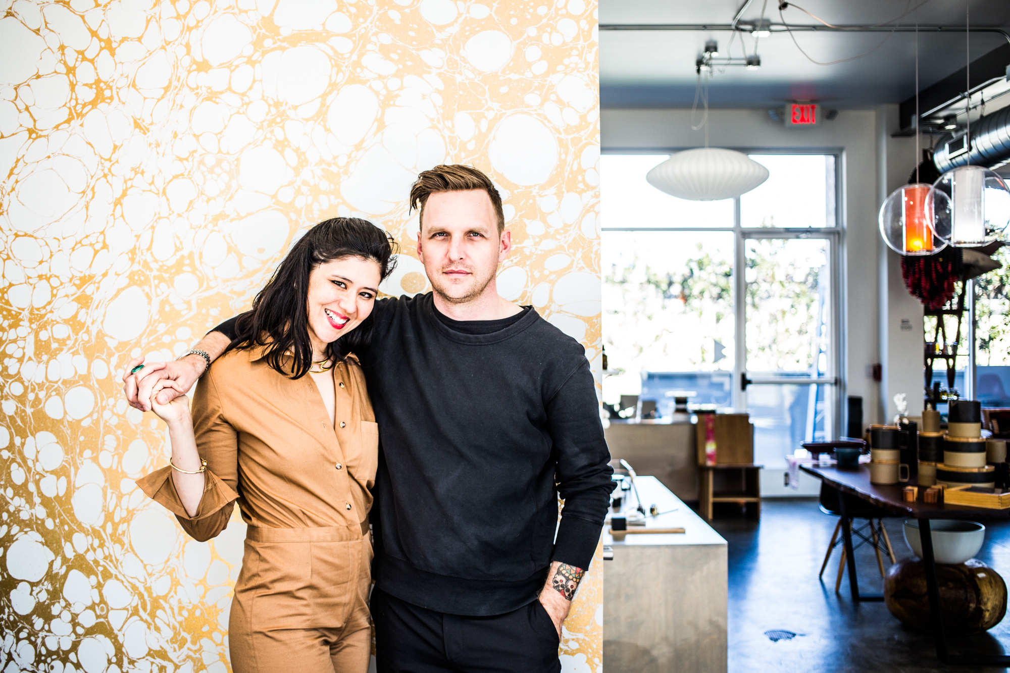 Ivy and Josh Elrod, owners of Wilder, a very cool home design store in Germantown. Photography by  Andrea Behrends