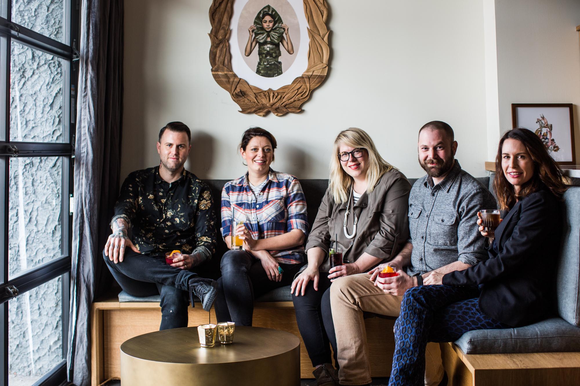 From left: Freddy Schwenk, Abi Hewitt, Katie Vance, Matt Alexander and Nealy Glenn.