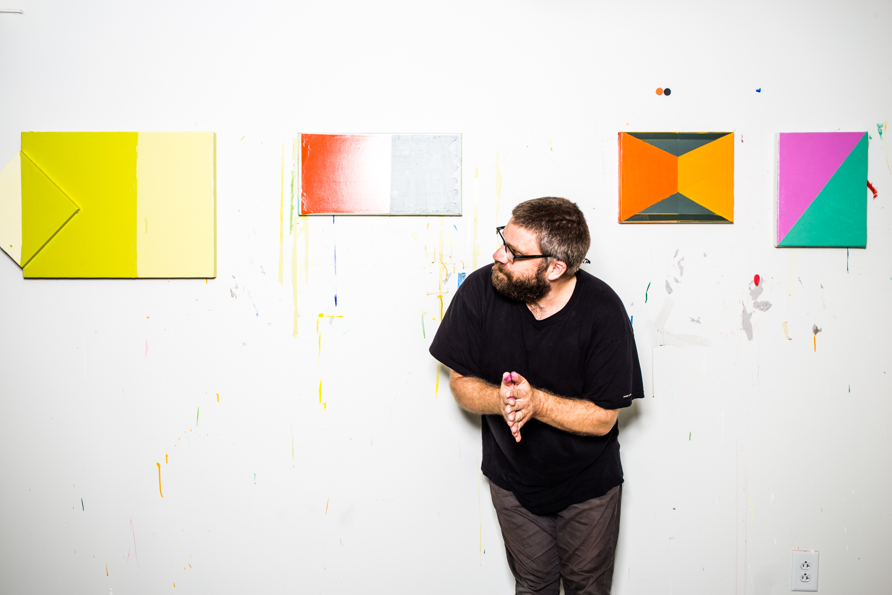 """John Tallman was attracted to the space for its convenience and good value: """"Affordable studio space is a rare thing in Nashville."""""""