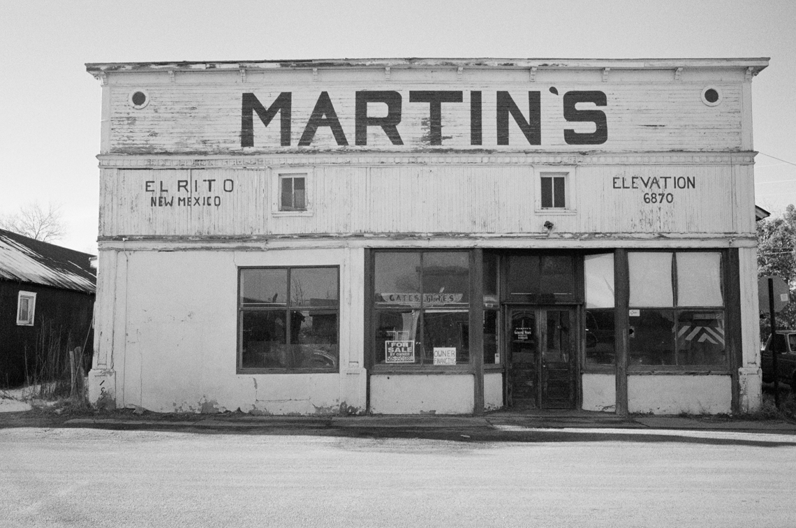 Gina and David's El Rito neighbor, Martin's Grocery Store. The space is currently available for rent.
