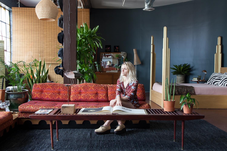 Savannah Yarborough in her studio apartment in downtown Nashville. All photos by  Caroline Allison .