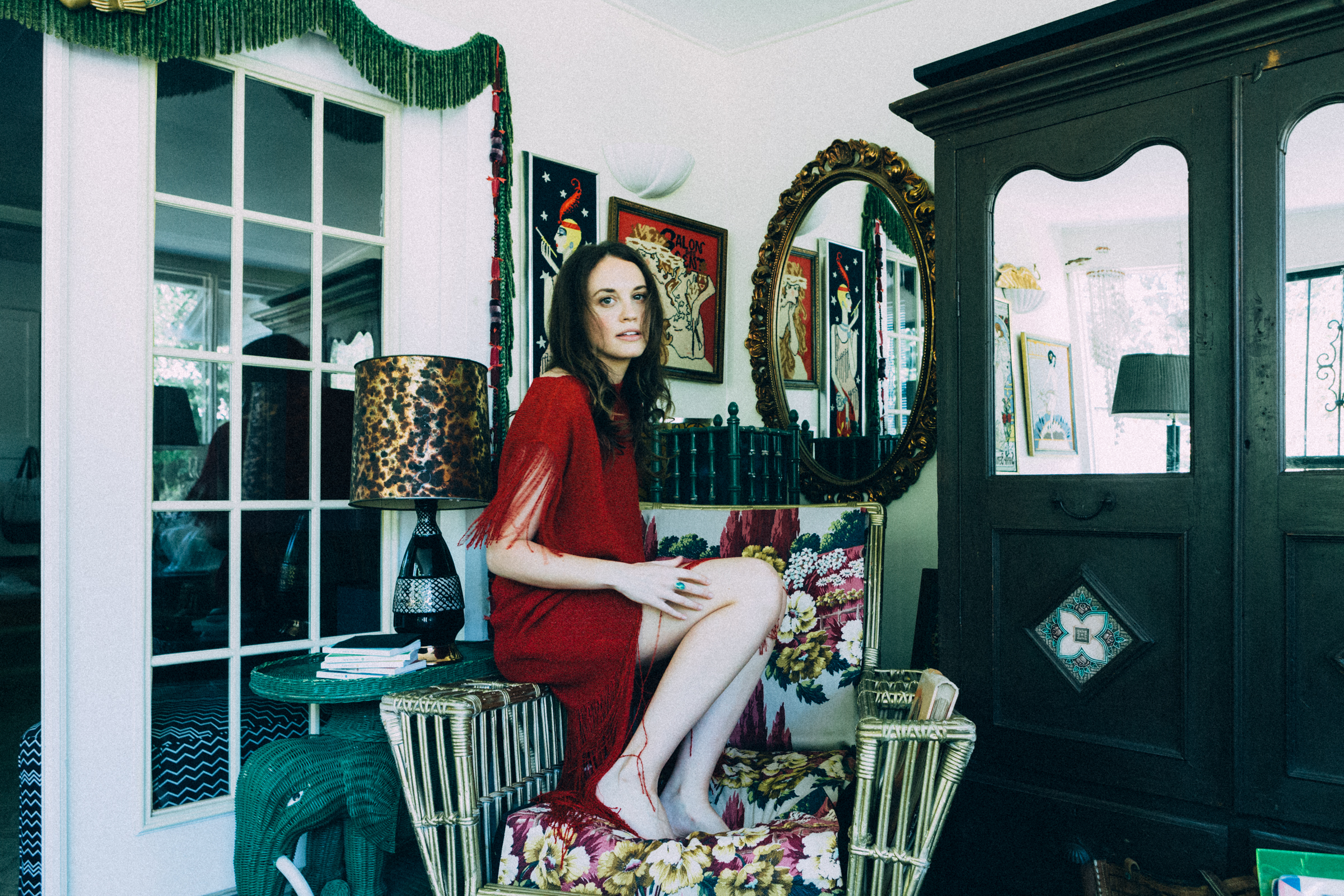 Elise Joseph, photographed in the home of Libby Callaway. All photos by Heidi Ross.
