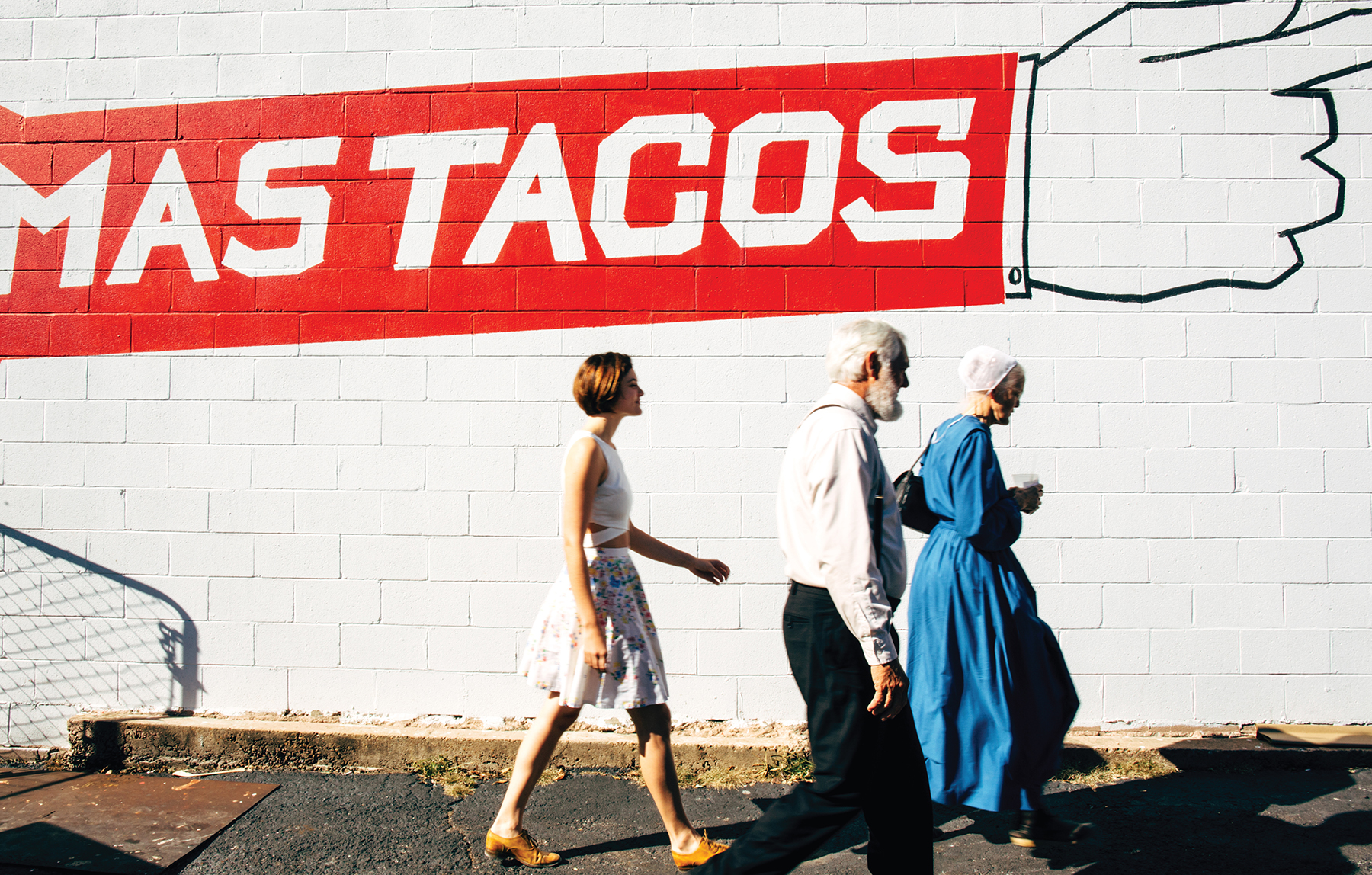 Mennonites at Mas Tacos. An outtake from photographer Heidi Ross' new book,   Nashville: Scenes from the New American South  .