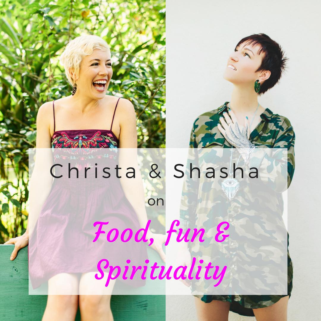 Yoga-loving renegade goddesses, Christa & Shasha