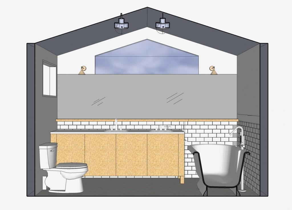 master bath Sketchup Image