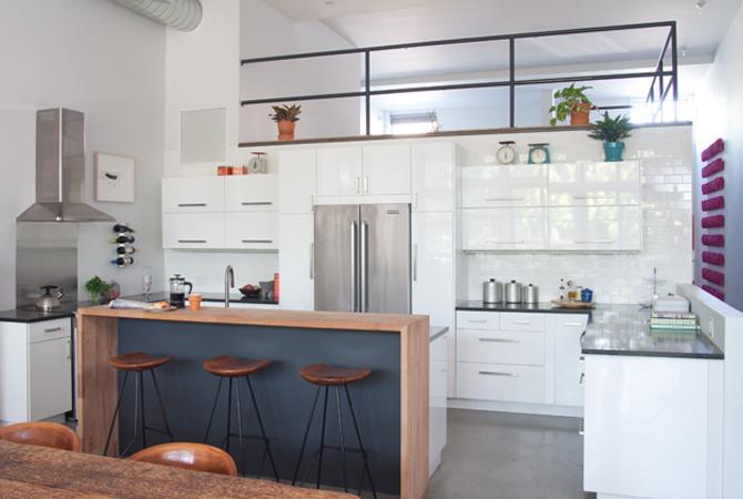 Red Hook, Brooklyn kitchen loft renovation by Cavdesign