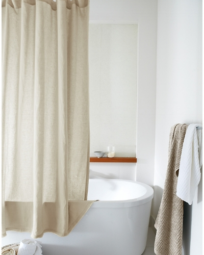 Eileen Fisher Washed-Linen Shower Curtain