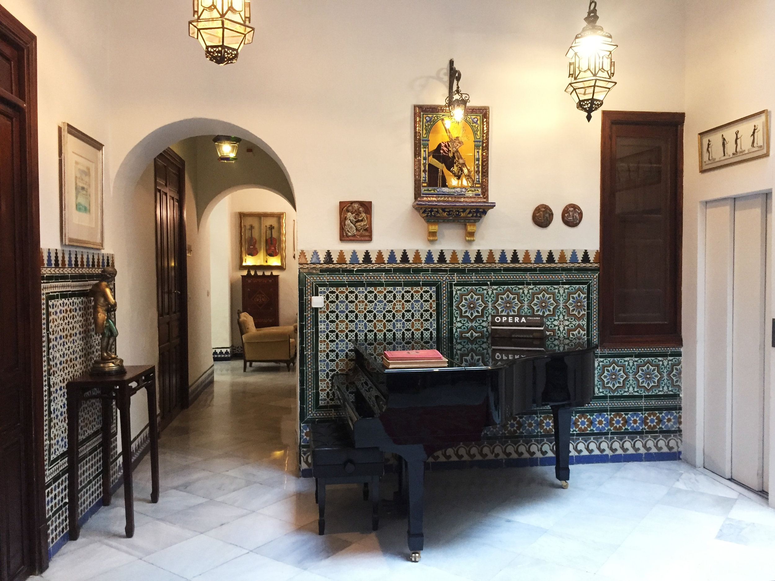 Our first stop -- Hotel Amadeus in Seville